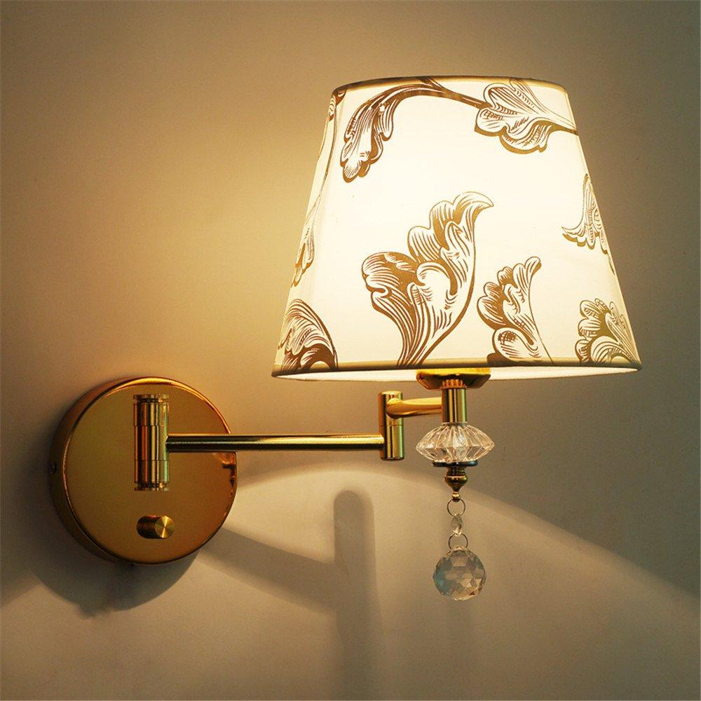 DengWu lampada da parete Interruttore a bilanciere con luci da parete lampada al posto letto camera da letto caldo led regolabile minimalista moderno soggiorno luci da parete (22  29cm) telecomando