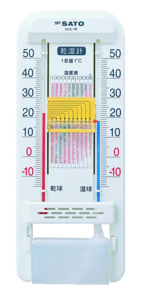 Amazon | 佐藤計量器(SATO) 乾湿計 ガーデニング スライド目盛 ...