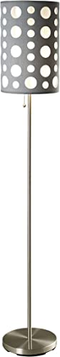 ORE International 9300F-GY-WH Modern Retro Floor Lamp