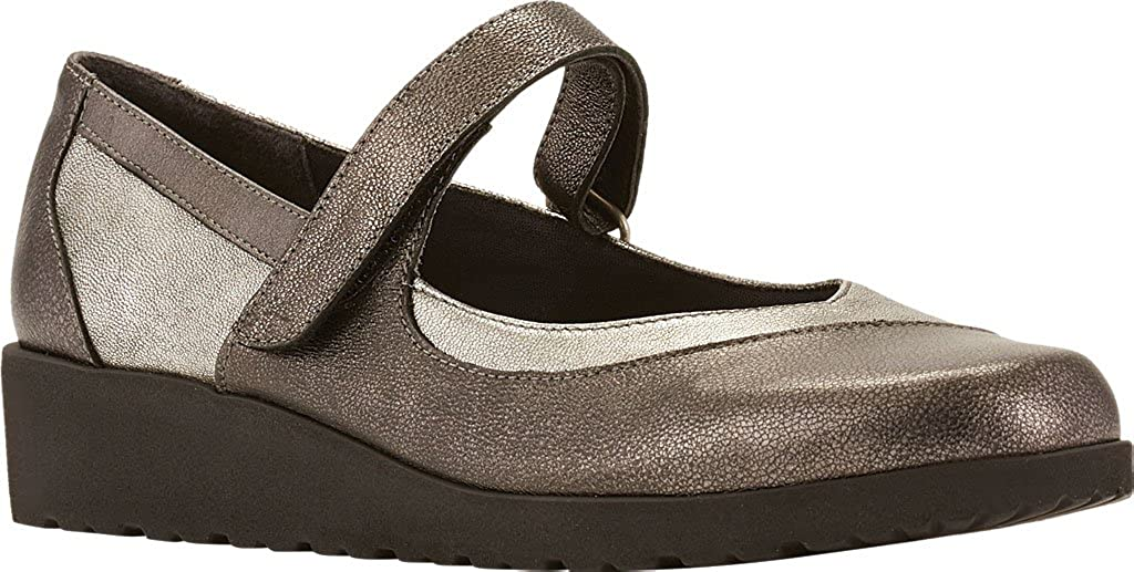 Finley Mary Jane Wedge,Pewter Leather