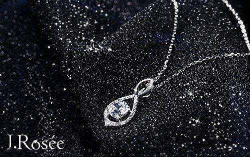 Boucle doreille J.Ros/ée Argent 925 /étincelant Zirconium cubique Clous doreilles Femme FilleFleur /éternelle Bijoux cadeau pour les Femmes et les M/ères