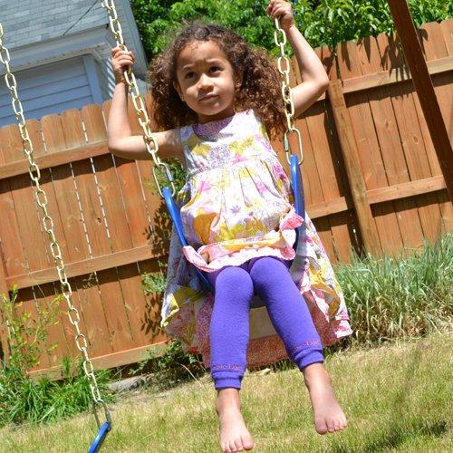Purple Bambino Land Leg Warmers Solid Color