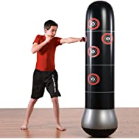 KY Saco de Boxeo Inflatable Boxing MMA Punching Target Bag Free-Standing Tumbler Venting Toys