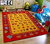 Mybecca Abc Fun Kids Rugs Playtime Area Rug, 5'' x 8'' Non-Slip Backing