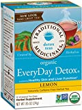 Traditional Medicinals Organic Everyday Lemon Detox Tea, 16 bags (Pack of 6)