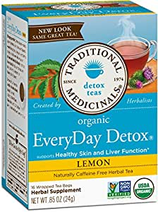 Traditional Medicinals Organic Everyday Detox Lemon Tea, 16 Tea Bags