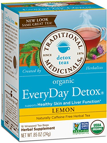 Traditional Medicinals Organic Everyday Lemon Detox Tea, 16 Tea Bags (Pack of 1)