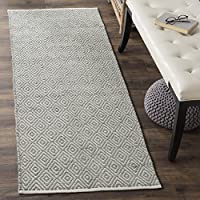 Safavieh Boston Collection BOS682E Handmade Grey Cotton Runner (23 x 11)