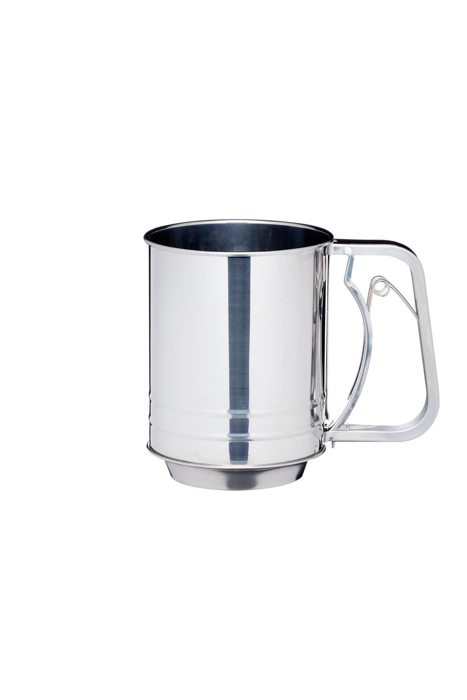 KitchenCraft Stainless Steel Three Cup Trigger Action Flour Sifter