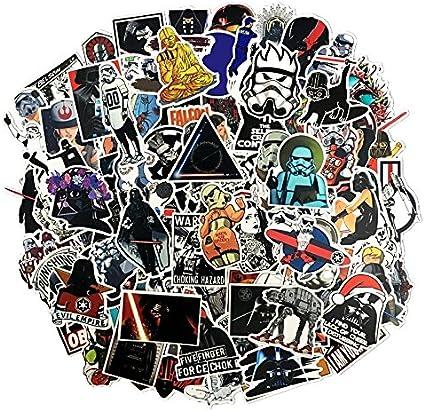Sanmatic Paquete de Pegatinas [100pcs] 100 Unids Star Wars Sticker Pack, Único Cool Stickers Cuaderno Guitarra Patineta Viajar Pegatinas Impermeable: Amazon.es: Coche y moto