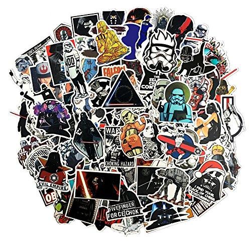 (100 Pcs Star Wars Sticker Pack,Unique Cool Stickers Notebook Guitar Skateboard Travel Stickers Waterproof)