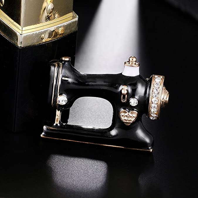 Amazon.com: HighPlus Black Enamel Jewelry Hijab Pin Women Girls Sewing Machine Brooch: Jewelry