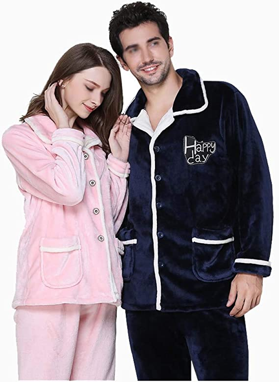 ejemplo de pijamas de franelas para parejas