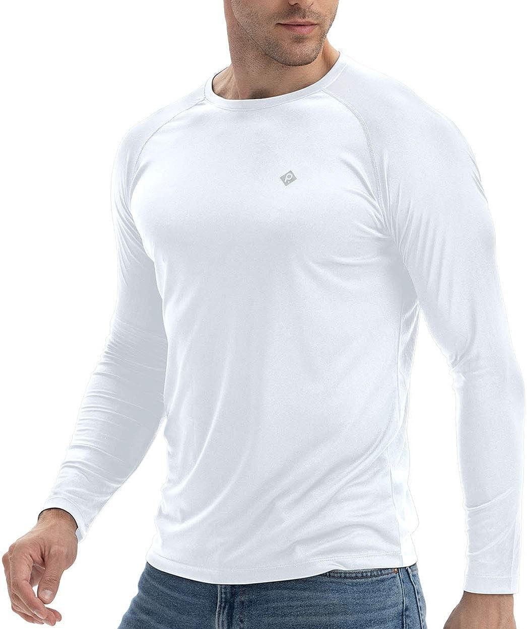 RlaGed Men's UPF 50+ UV Sun Protection Running Shirts Long Sleeve Quick Dry Sports Hiking Fishing Shirts for Men