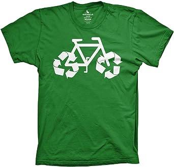 Guerrilla Tees Reciclar Camiseta de Bicicleta Camisa Funny Reciclaje Camiseta Ciclismo Camiseta