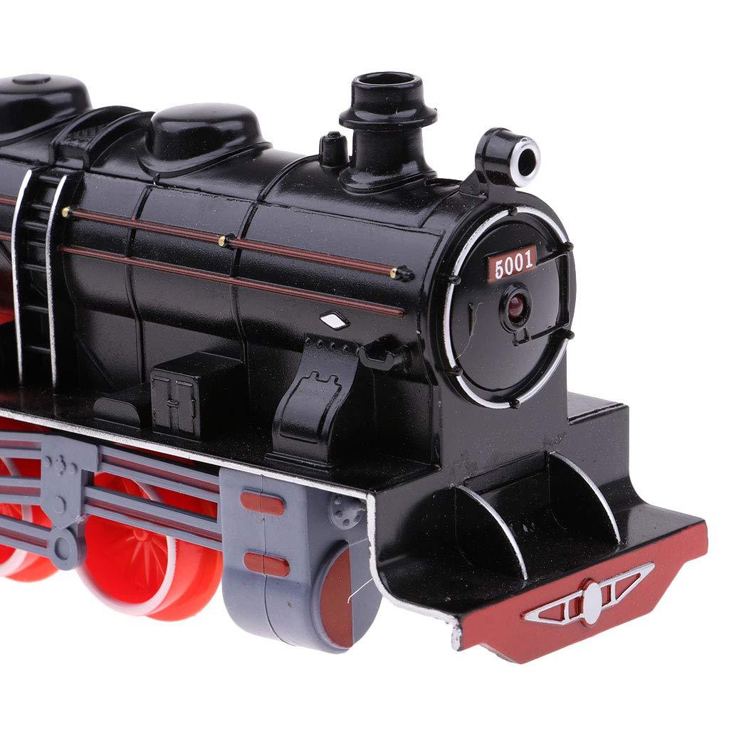 SM SunniMix Enfant V/éhicule Jouet Locomotive /à Vapeur Mod/èle De Train Mod/èle De Train De Charbon R/étro