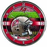 Nfl Football Team Chrome Wall Clock , Tampa Bay Buccaneers , 12-Inch