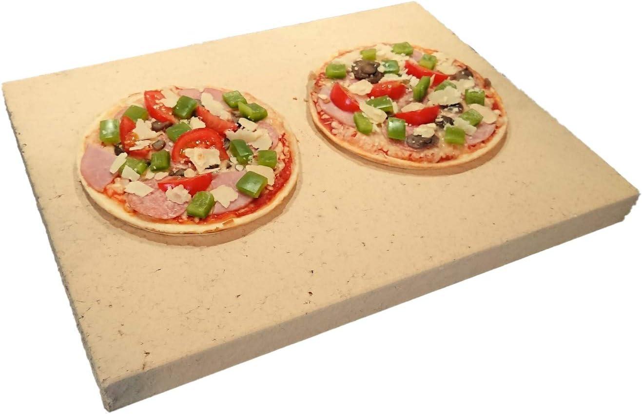 Kaminprofi Chimenea Profesional Pizza Piedra para Horno & Grill, 40x 30x 3cm–Macizo Chamota–Alimentos, utilizable como Pan ladrillo & Flamm Bandeja | Calidad Profesional como en Italian