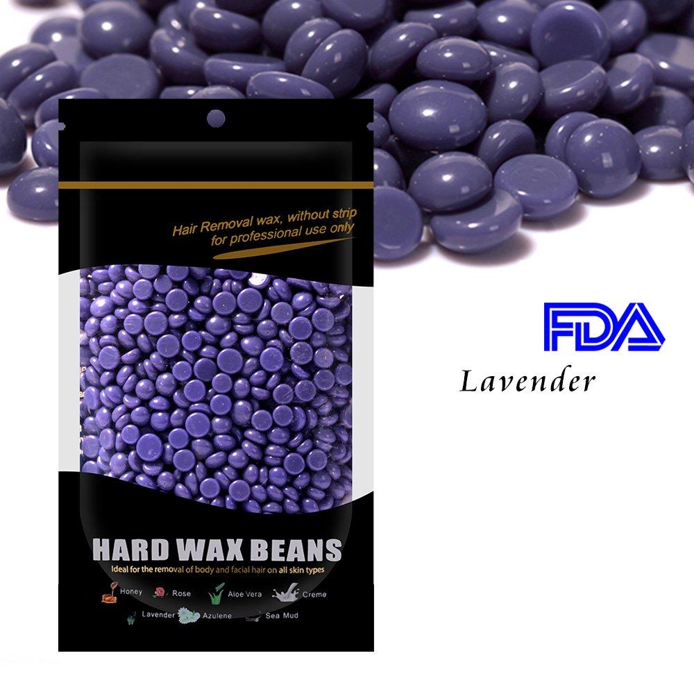 Waxkiss 100g Hard Wax Beans Hair Removal Painless Wax Bikini Wax for Woman & Man Body Hair Remove