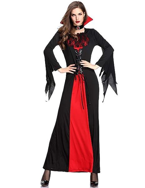 5c533e00dc7 Amazon.com: DoLoveY Halloween Vampire Costume Women's Witch Dress ...