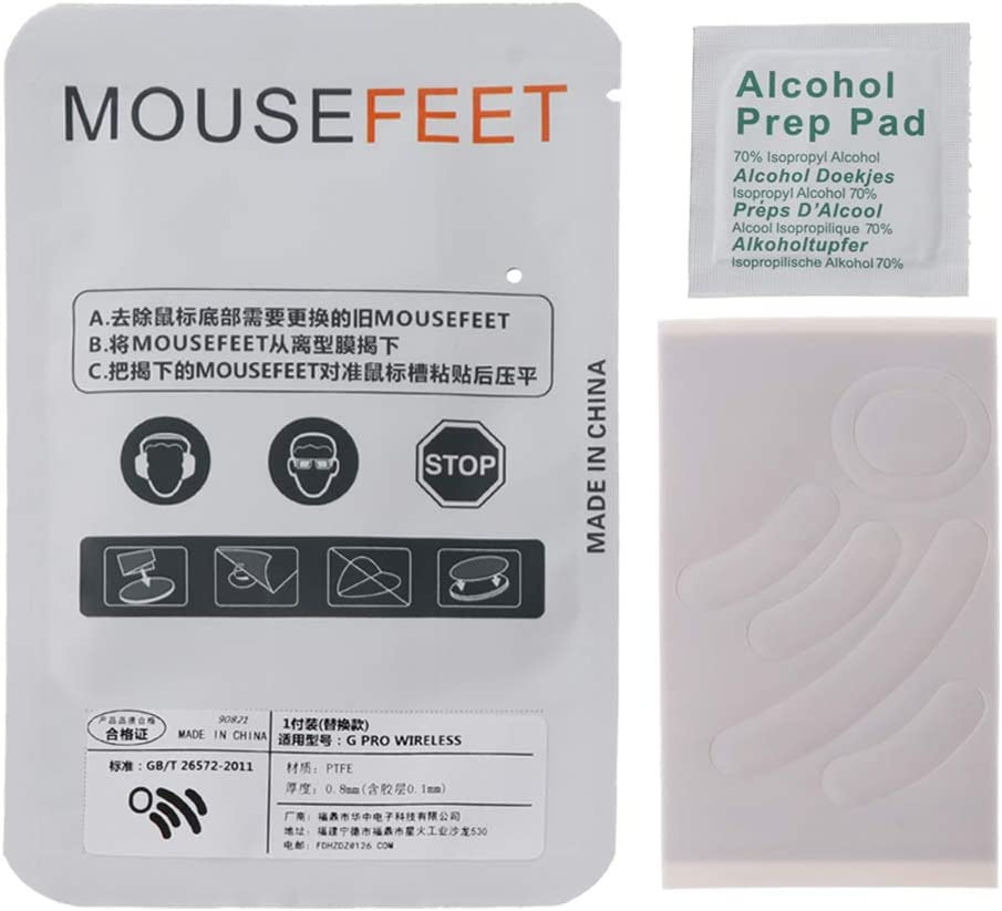 Heyuan 1 Set 0.6mm Curve Edge Mouse Feet Mouse Skates for Wireless Mouse