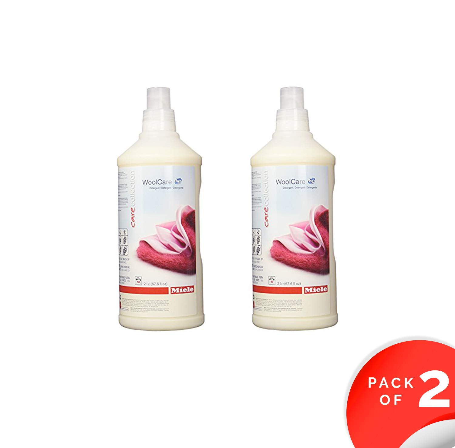 Miele Care Collection HE Wool Care For Woolens, Delicates and Silks - 50.72 fluid ounces (1.5 Litres) (2)