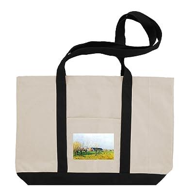 Farming (Sisley) Cotton Canvas Boat Tote Bag Tote