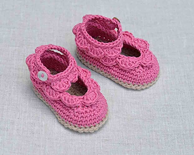 Amazoncom Baby Sandals With Scallops Easy Crochet Pattern Baby