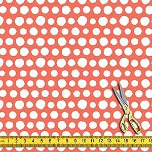 AZ Painted Polka Dot Satin Fabric Dress Material & Upholstery 1.3metre x 5metre;SATIN