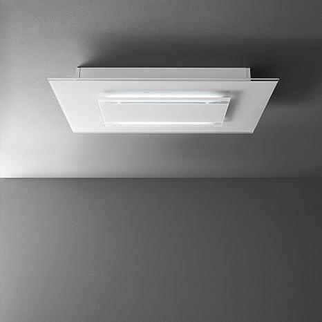 Falmec – Campana extractora de techo aura acabado cristal templado extrachiaro blanco de 120 cm: Amazon.es