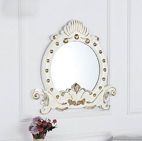 YMXLQQ Corona Classica Europea PU Specchio Bagno Specchio Cosmetico ...