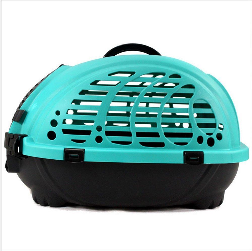 ordene ahora los precios más bajos Caja De De De Transporte Transportista Dog Cat Travel Cocherier Cage Bolso Portátil Para Mascotas Transpirable Y Cómodo LX-094,azul  100% a estrenar con calidad original.