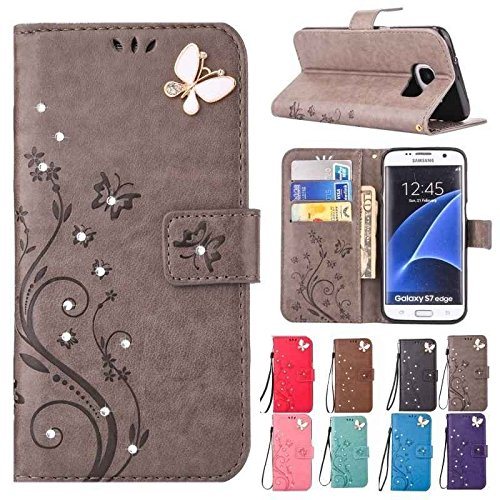 Painted Diamonds Bag - Luxury Bling Diamond Embossed Painted Pattern Flip PU Leather Cover Holster Card Holder Stand Wallet with Lanyared Shockproof Mobile Phone Bag Case With Hand Strap For iPhone 6/6 plus/7/7 plus