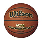 Wilson NCAA Aggressor 28.5 Inch Composite Leather Ball, Intermediate Size
