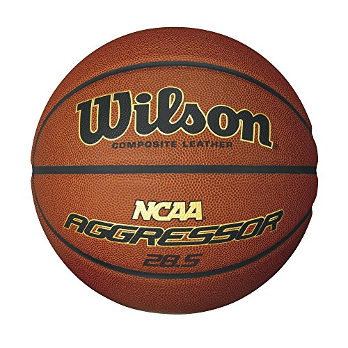Wilson NCAA Aggressor 28.5 Inch Composite Leather Ball, Intermediate Size by Wilson
