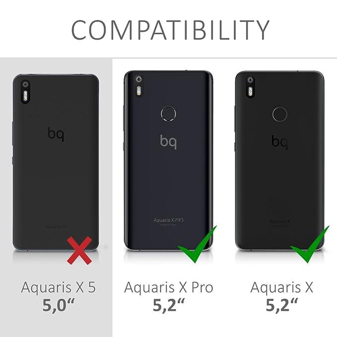 Amazon.com: kwmobile Flip Case for bq Aquaris X/X Pro ...
