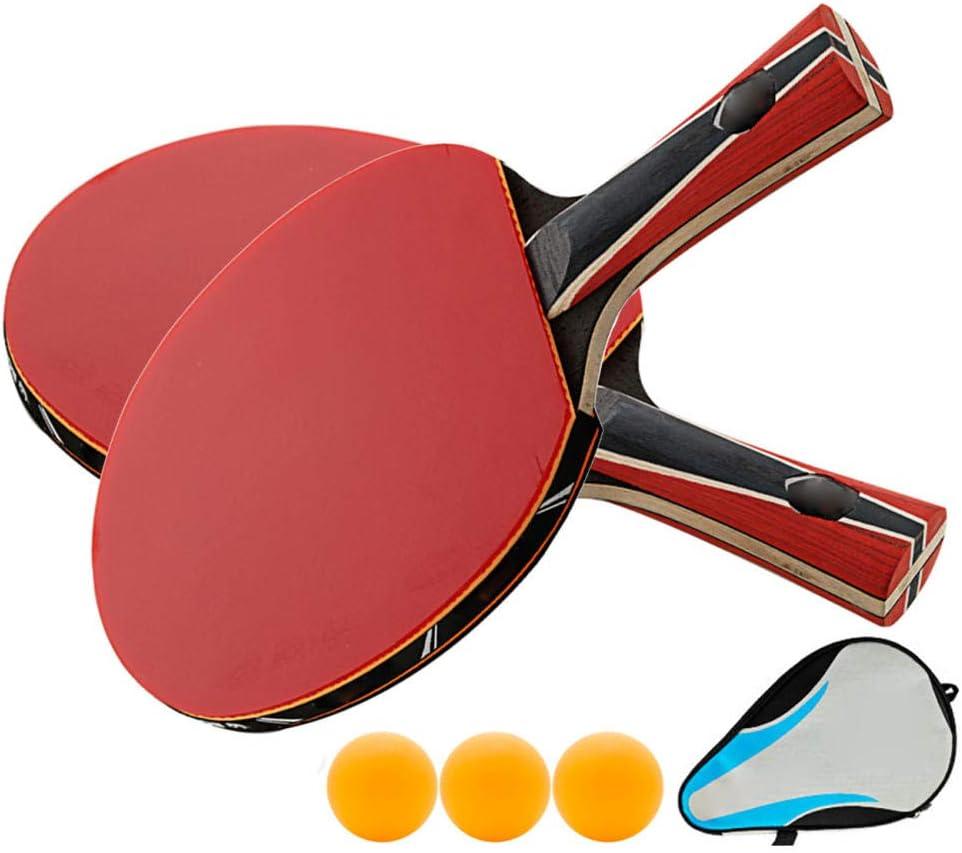 N/A Paleta Profesional De Tenis De Mesa De Madera De 9 Capas, Raqueta De Ping Pong Aprobada por La Ittf con Bolsa De Almacenamiento, Productos Intermedios Y Avanzados
