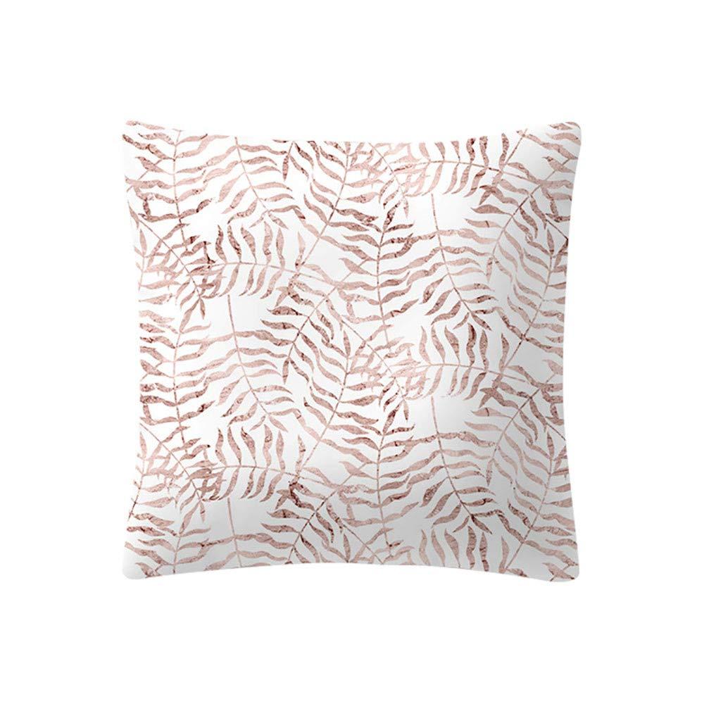 kingwo Taie d'oreiller imprimée série rose or rose Housse de coussin décorative simple et belle (B) kingwo-case