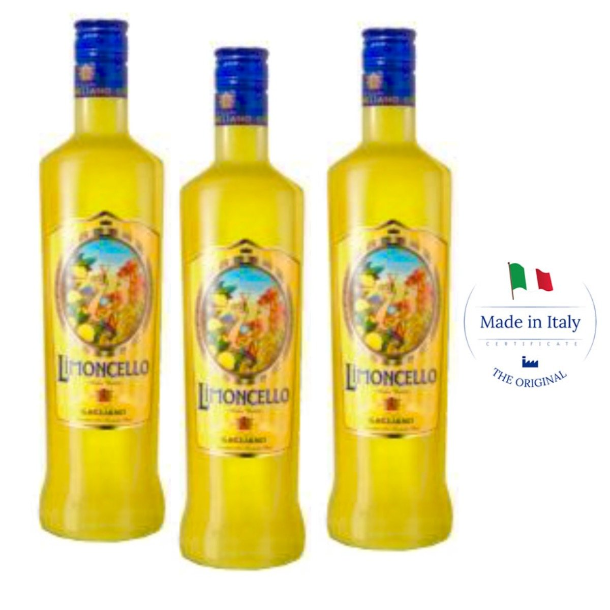 Traditional Italian Limoncello - ancient recipe (Box 3 bottles) by Dolceterra (Image #1)