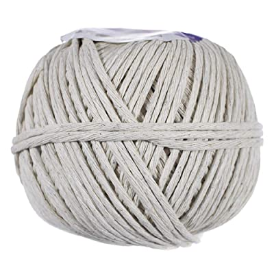 Polished Beef Cotton Twine - (3 MM x 270 Feet) - Cotton and Polyester Twine Blend : Office Products