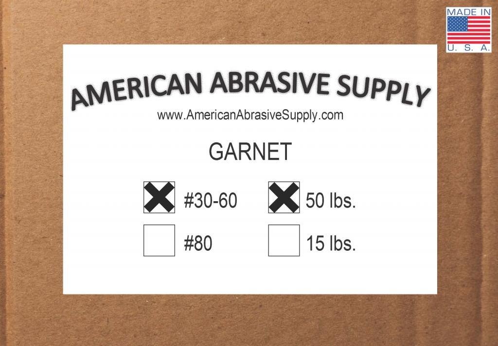 Blasting Abrasive 50 lbs. Garnet 30-60 Mesh #46 Grit