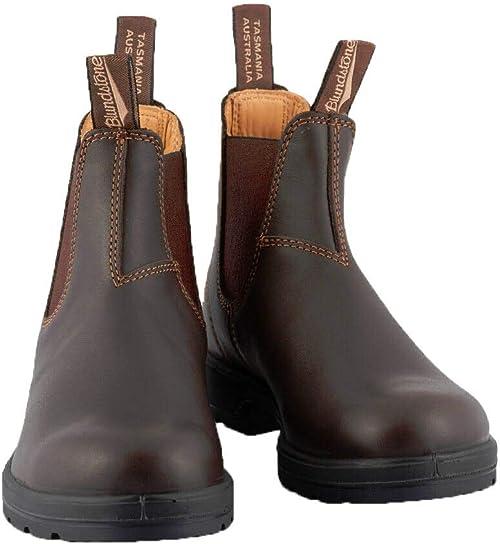 Blundstone Style 587 Chelsea Boots Rustic Black Nubuck Leather Australian Boots