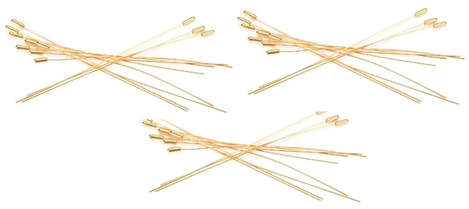 Darice 12-Piece Hat Pin, 6-Inch, Gold 1924-36