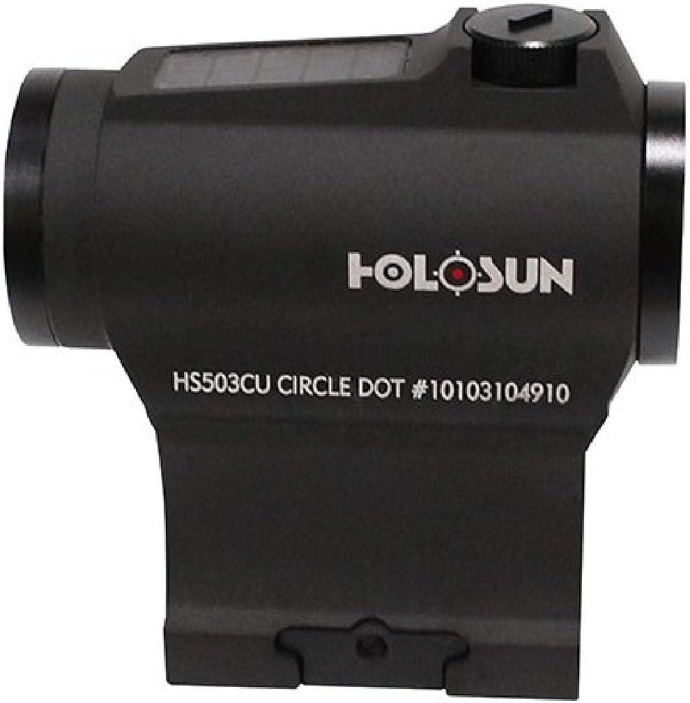 HOLOSUN HS503CU, Paralow Red Dot Sight 1X, 2 MOA Dot & 65 MOA Circle, Matte Black