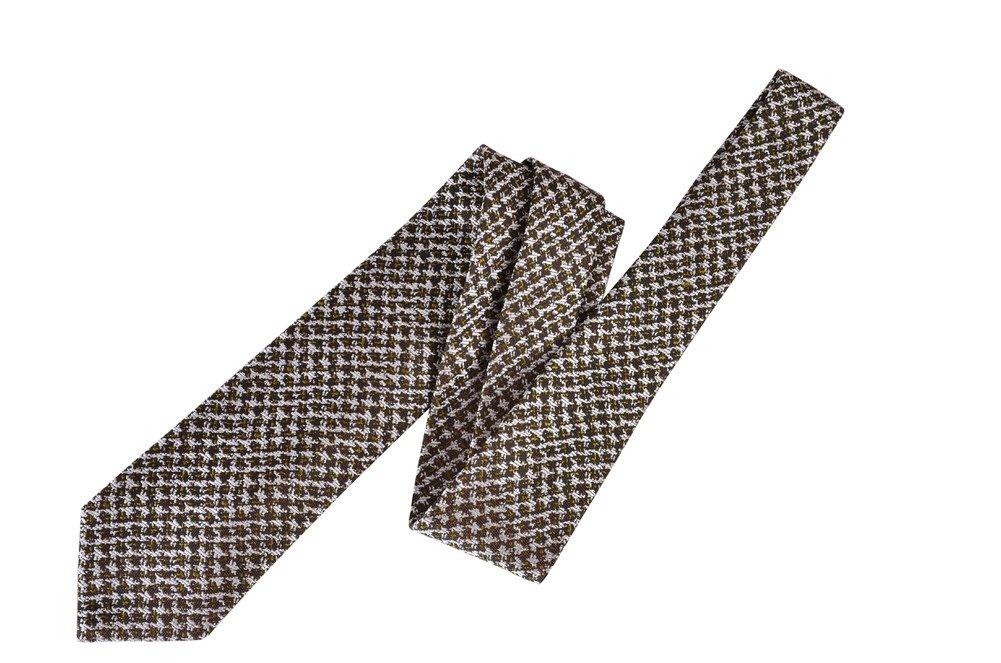 Tom Ford Olive Green Silk Skinny Neck Tie