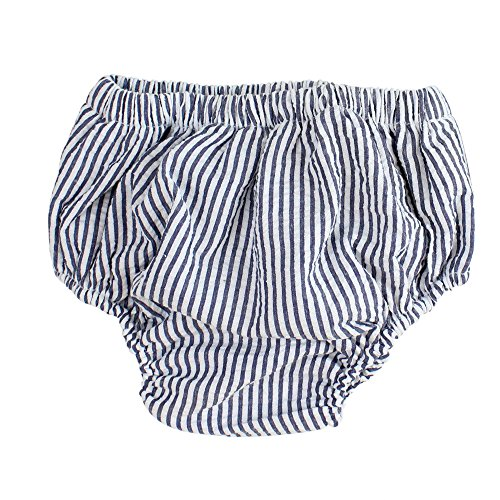 juDanzy Baby Boys Diaper Cover (6-24 Months, White & Blue Stripe) from juDanzy