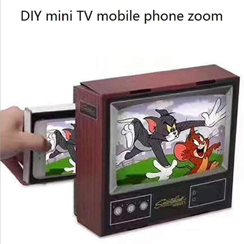 WXX Amplificador De Video para Teléfono Móvil, Lupa F4 para Teléfono Móvil Retro TV DIY, 2 Aumentos, Juguete De Regalo,Marrón: Amazon.es: Hogar