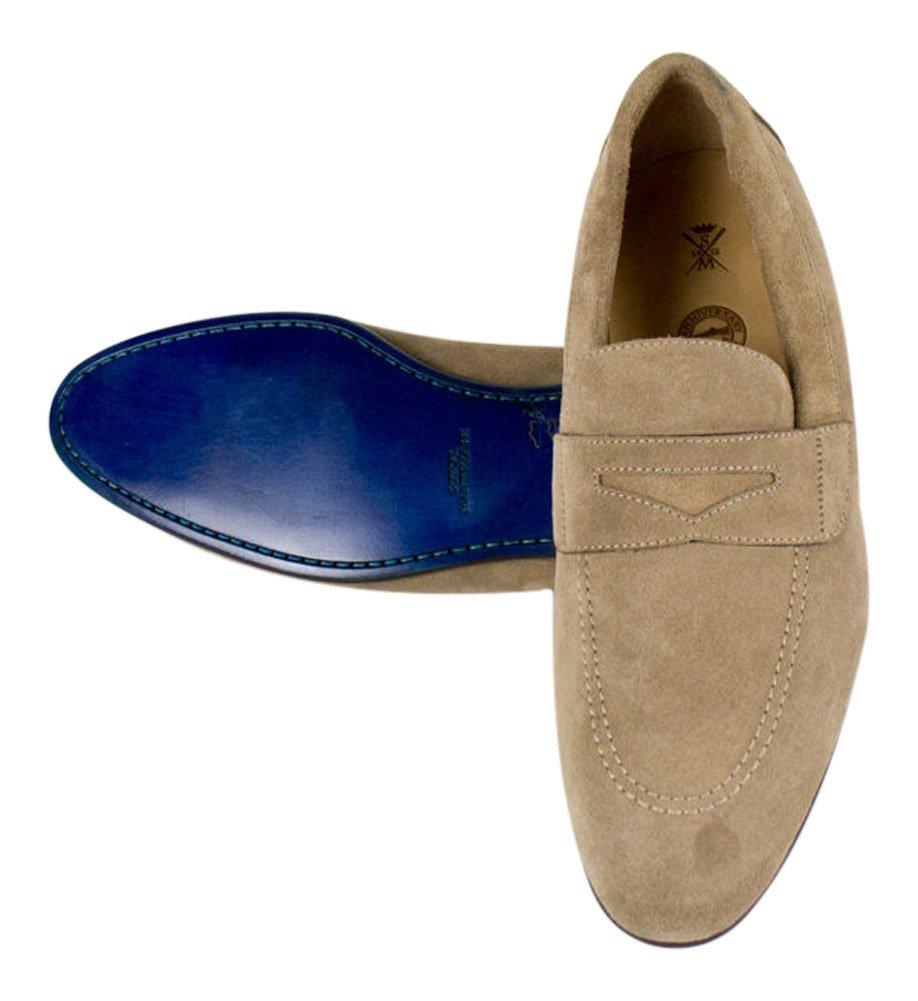 Sutor MANTELLASSIブラウンスエードレザーペニーローファー靴サイズ9 u.s。   B01MYNWOBZ