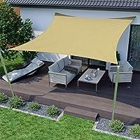 Toldo Vela de Sombra Rectangular Protección Rayos UV Solar Protección HDPE Transpirable Aislamiento de Calor para Dar…