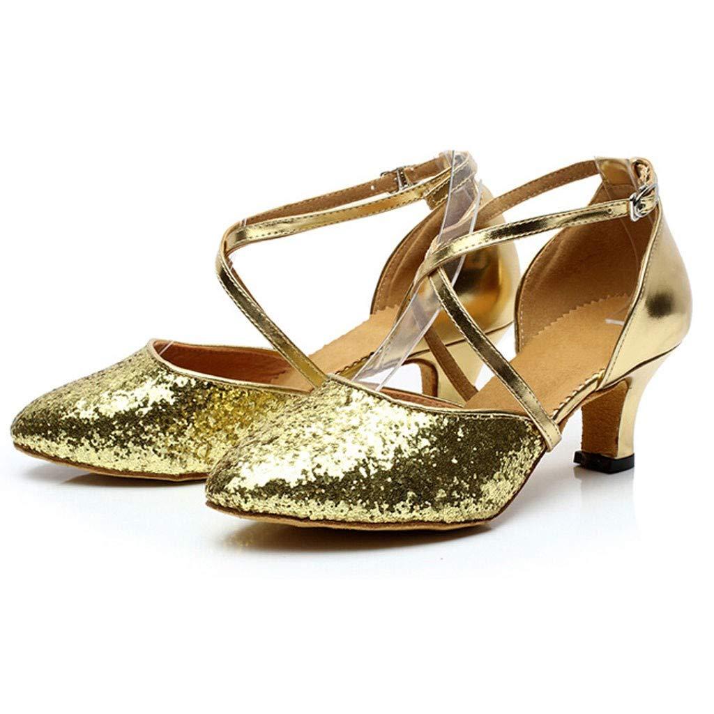 Damen Ausgestelltes Tanzschuhe//Standard Latin Rumba Waltz Prom Ballroom Dance Schuhe Satin Paillette By Vovotrade